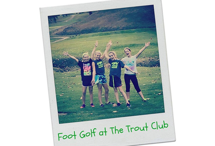 Group of foot golf at trout club participants