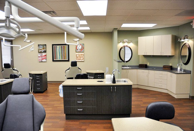 Orthodontist exam room