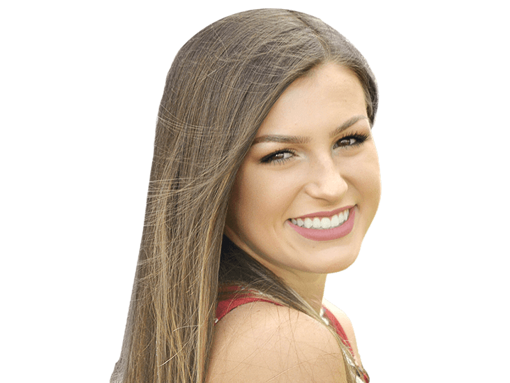 Young woman with flawless smile